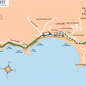 Parcours cyclable du littoral – V65 : Le Lavandou > Rayol-Canadel