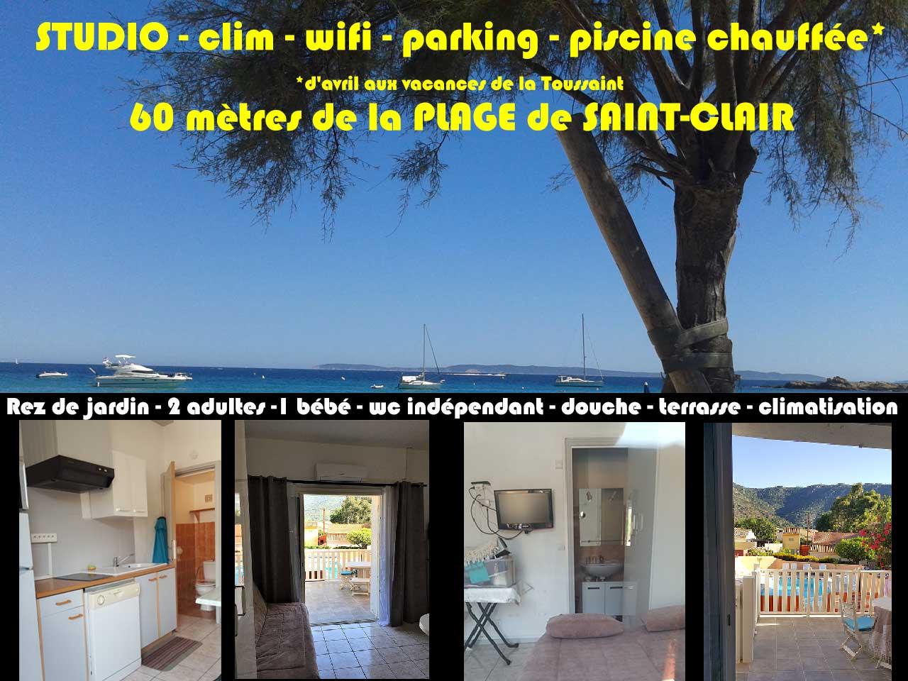 Location studio Le Lavandou Saint Clair Millard