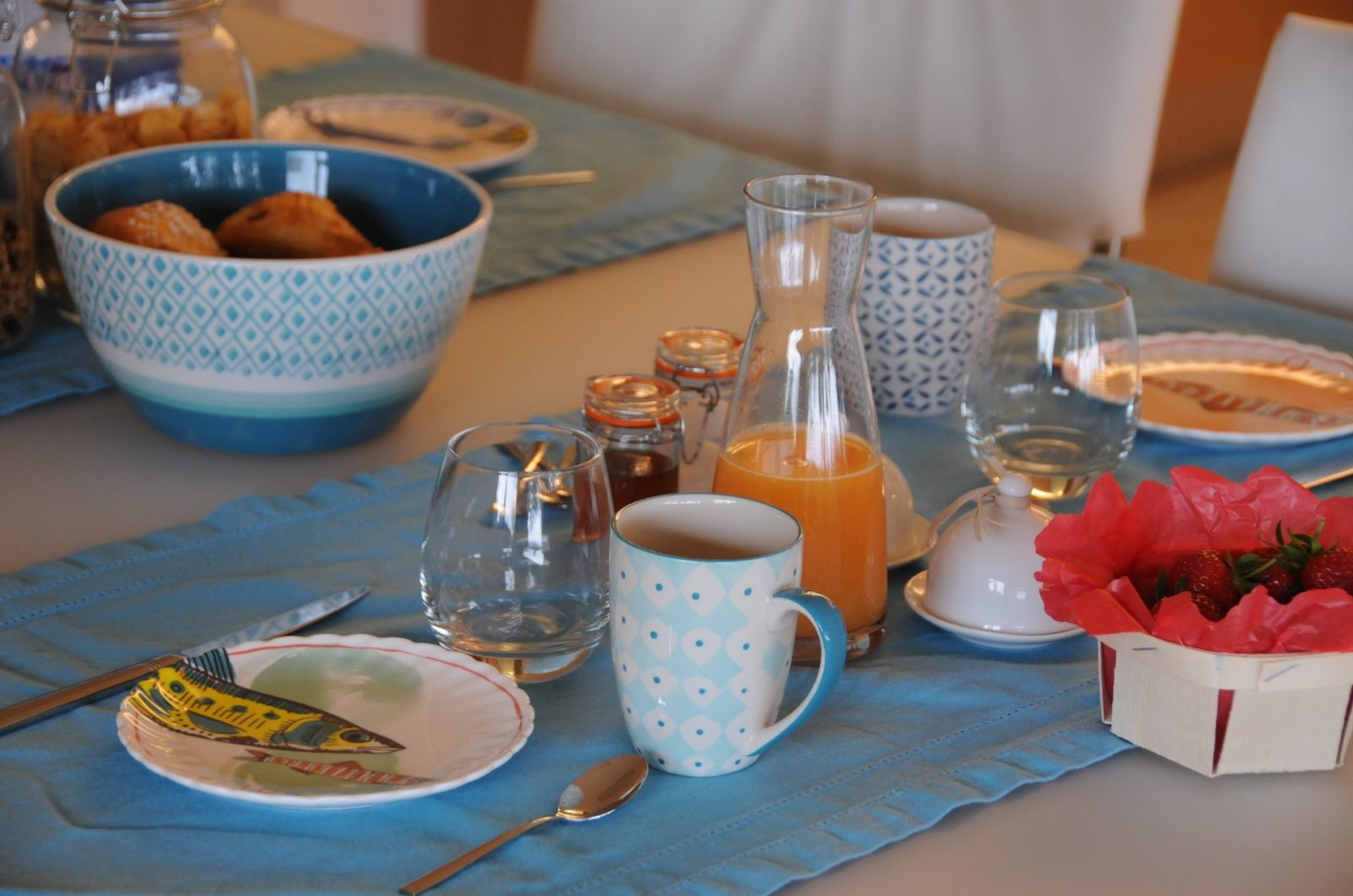Petit-déjeuner Villa Thalassa chambre d'hôte