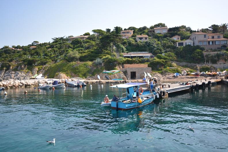 Le port de l'Aygade – Île du Levant